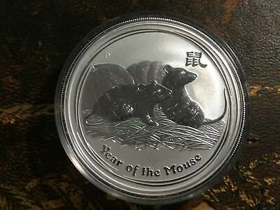 2008 1oz 0.999 Silver Australian Year Of The Mouse Coin