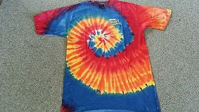 M&M's Brand Collectible Groovy Summer Beach T-shirt Tie Dye M&M Candy~NEW LARGE