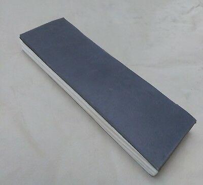 "8"" X 2.5"" Black Smooth Leather Sharpening Strop  Single Sided"