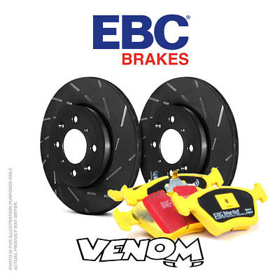EBC Front Brake Kit Discs & Pads for Volvo V70 Mk1 2.4 4x4 98-99