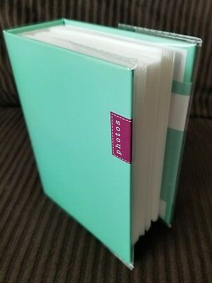 100 Book Bound Picture Photo Album (Tiffany Blue)