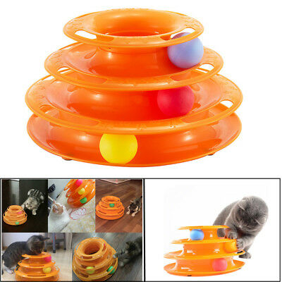 Pet Cat Dog Toys Pets Crazy Ball Disk Interactive Amusement Plate Trilaminar Toy