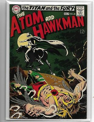 The atom and hawkman no.43 HIGH GRADE ghost FIRST GENTLEMEN GHOST