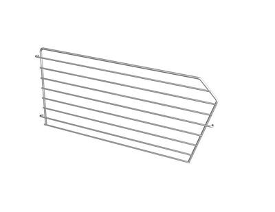 Lozier Basket Divider 8 In. X 16 In. For Use With Lozier Shelving Silver Pack of