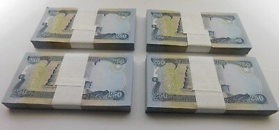 100,000 New Iraqi Dinar Notes - 400 Of The 250 Notes - Uncirculated - No Reserve