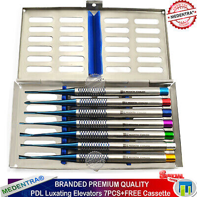 Implant Dental PDL Luxating Root Elevators Tooth Extracting Serrated + Cassette