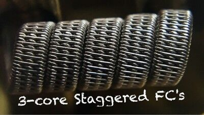 2x N80 3-core Staggered Fused Clapton Coils +Free Coils! (Staple & Alien Killer)