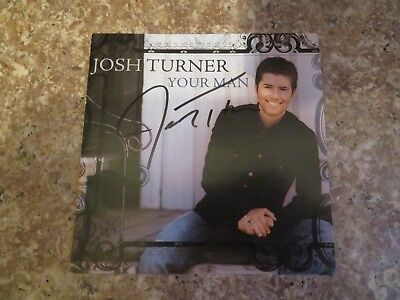 Signed Autograph CD Booklet Josh Turner - Your Man