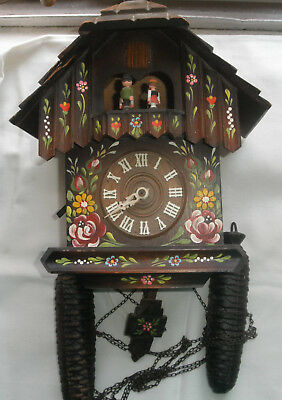 MUSICAL CUCKOO CLOCK WITH DANCERS and CUCKOO BIRD LARGE 2 WEIGHTS