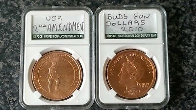 2 X COPPER BULLION COINS 1 OZ  ( rare from usa )