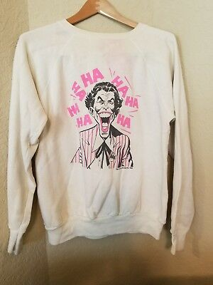 "Super Rare 1964 ""THE JOKER"" True Vintage Sweatshirt DC Comics- XL- Velva Sheen"