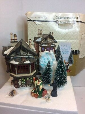 Dept 56 Dickens Village Ebenezer Scrooge House 7 Piece Set
