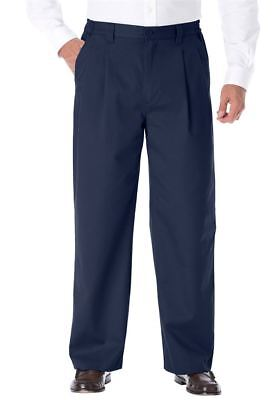Lot of 8 Pairs Mens Wrinkle Resistant Pleated Front Chinos Pants 40x40
