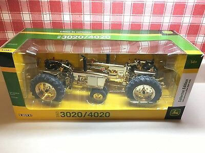 John Deere 50th Aniversary 3020/4020 Gold Collector Edition 2 Tractor Set 1/16