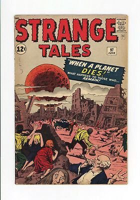 STRANGE TALES #97 - 1st AUNT MAY & UNCLE BEN - KEY ISSUE - 1962 - NICE BOOK