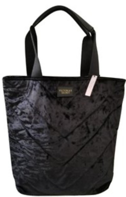 3543b99a939e3 Victoria s Secret Velvet Tote Bag Black New With Tag In Online Packaging