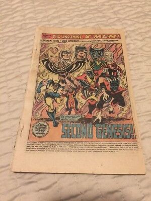 Giant Size X-men #1 Missing Front Cover Complete 1st App New X-men