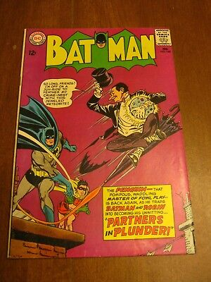 DC Batman #169 VF-/F+ Key Book - 2nd SIlver Age Penguin Glossy cover!!