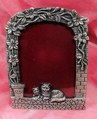"Cat Metal Desktop Picture Frame Fits 3.5"" x 5"" Photo"