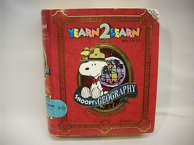 "Snoopy Peanuts Yearn to Learn computer game w/3D box , ""Geography"", NEW"