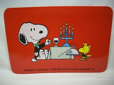 "Snoopy Peanuts table place mat, ""candle light dinner"""