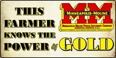 Minneapolis Moline Gold Power Decal