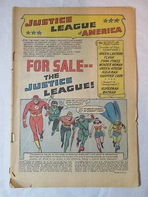 Justice League of America 8 No Cover Silver Age DC Comics