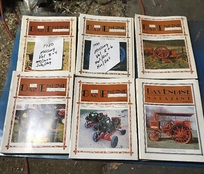 Gas Engine Magazine Hit Miss Steam Tractor Antique Farm Collector 1980-85 Lot 1
