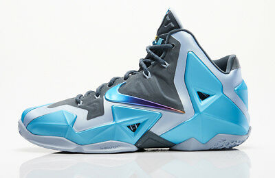d8d6ea63c37 NIKE LEBRON 11 XI Gamma Blue Size 13. 616175-401 BHM What The All ...