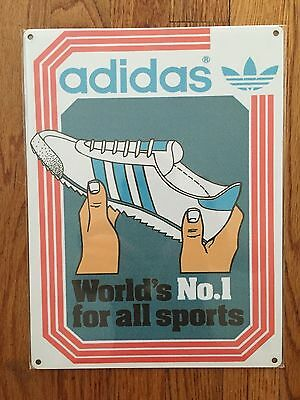 Adidas OG Rom Originals Vintage Style Advertising Sign Sneakers Track Shoes USA