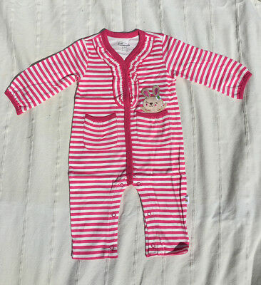 Brand new baby girl one-piece romper outfit 100% cotton size 0-12m