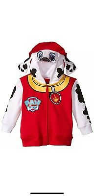 Paw Patrol Toddler Boys Zip-Up Costume Hoodie, Marshall Red, 4T