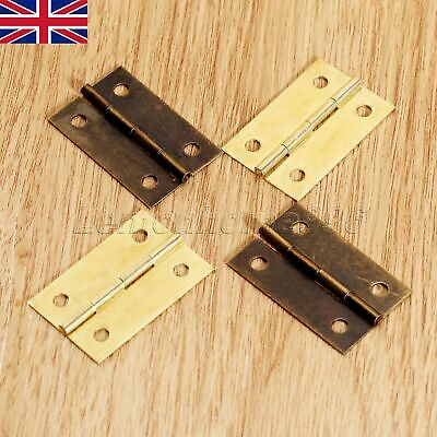 4/20Pcs Mini Hinge Jewellery Box Dolls House Decorative Cupboard Hinges UK Stock