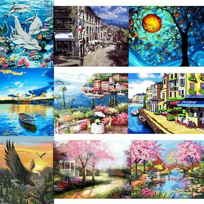5D DIY Canvas Digital Oil Painting Kit Paint by Numbers No Frame Home Decor Pop