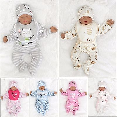 New 4Tlg Set Baby Starterset First Outfit Romper 56 62 Englandmode Top