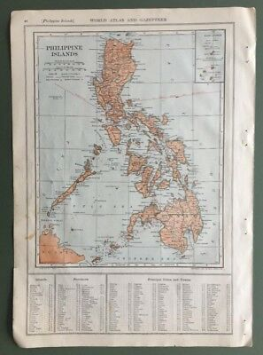 1914 Antique Map of the Philippines incl. Bashi Channel & on rev. Pennsylvania