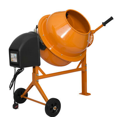 70 Liters Drum Portable 250W Electric Concrete Cement Mixer Mortar Plaster UK