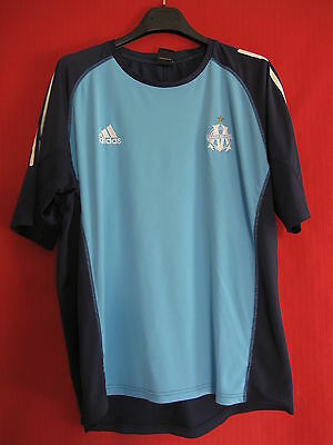 Olympic de Marseille jersey Adidas Training Navy and cien 90'S OM - 6