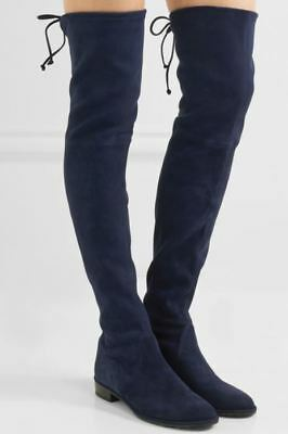 7ef2dded52a STUART WEITZMAN LOWLAND Suede Over-The-Knee Boots Us 7.5 Uk 5 Eu 38 ...