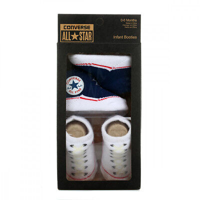 Converse Baby Navy / Black / Pink / Red Twin Pack Bootie Set (0-6 Months)