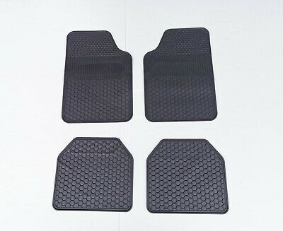 Universal Fit Rubber Carpet Car Floor Mats Rugged Heavy Duty All Weather