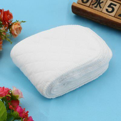 10 Pieces Reusable Pure Cotton Baby Cloth Diaper Nappy Liners Insert 3 Layers ZJ