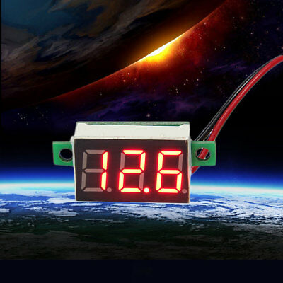 Mini Size LED Panel Voltage Meter 3-Digital LCD Display Adjustment Voltmeter ZJ