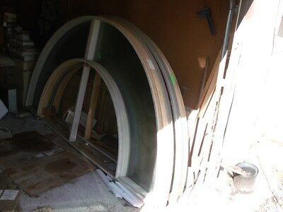 """2 Jeld-Wen Norco Collection 1/2 Round Outer Arch Windows New 136X68X24""""E-Glass"""