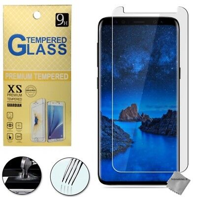 Film de protection vitre verre trempe transparent pour Samsung Galaxy S9