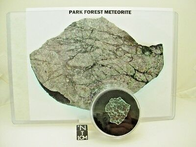 Gem Jar of Windshield Fragments Hit by Park Forest Meteorite on Mar. 26, 2003