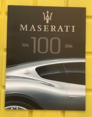 Maserati 100 Years 1914-2014 50 Page Booklet