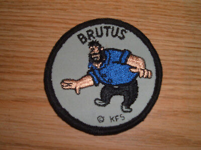 BRUTUS Embroidered  Patch  Popeye Cartoon VINTAGE
