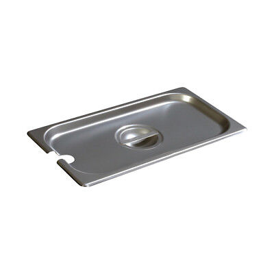 Notched Stainless Steel Lid for 1/3 Steam Table Pan
