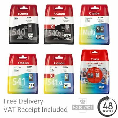 Genuine Canon PG-540 & CL-541 Ink Cartridges For Canon PIXMA Printers